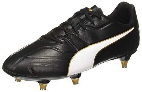 Puma Herren Classico C II SG Fußballschuhe, Schwarz Black White-Gold, 44.5 EU