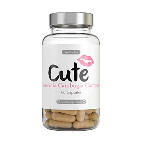 Cute Nutrition Capsule Garcinia Cambogia Gestione del Peso per Donne Estratto di Frutta ad Alta Resistenza con Guaranà Riduce L'Appetito Integratore 60 Capsule