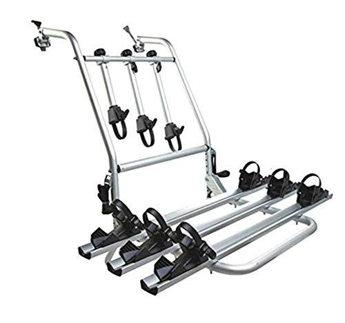 Fahrradtrager Anhängerkupplung Heckklappe 3 Fahrrader mit Sicherheitsgurte Universal Stahl Fahrradheckträger für Auto E-Bikes Faltbar Fahrradhalterung Schrumpfbar Fahrradanhänger Heckträger 80kg