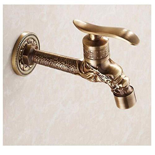 xiaox5 Wasserhahn Antiker Bronzedrache Geschnitzte Hahn-Tierform-Hahn-Garten-Bibcock-Waschmaschinen-Hahn-Hahn im Freien für Garten