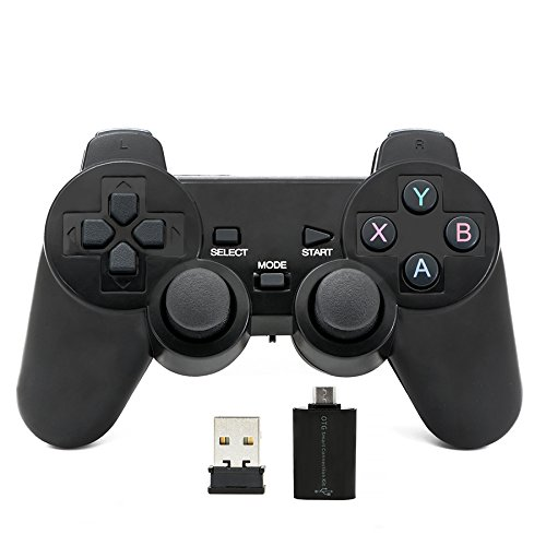 QUMOX Bluetooth Gamepad Joystick Joypad Game Controller für PC Android