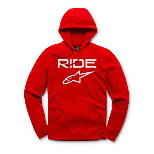 Alpinestars Ride 2.0 Fleece Sudadera, Rojo (Red/White 3020), X-Large para Hombre