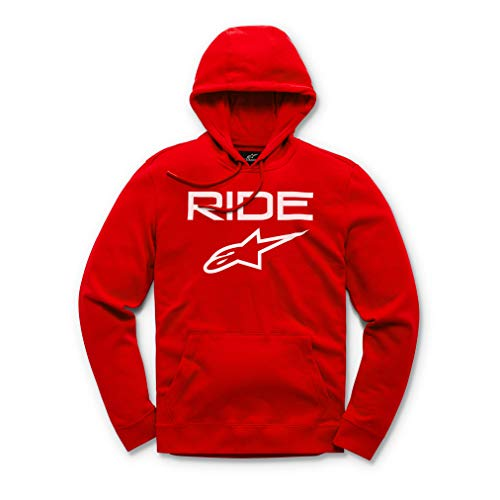 Alpinestars Ride 2.0 Fleece Sudadera, Rojo (Red/White 3020), X-Large para Hombre