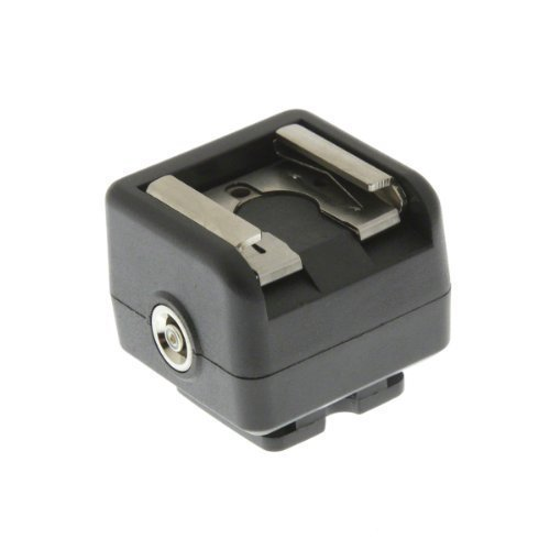 Adattatore a slitta per sincronizzazione flash, per fotocamere senza presa sincro Connette flash e flash da studio alla tua fotocamera DSLR con cavo standard