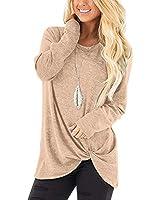 Womens Sweaters Christmas T Shirts Tops Boho Winter fashion Clothes Khaki XS