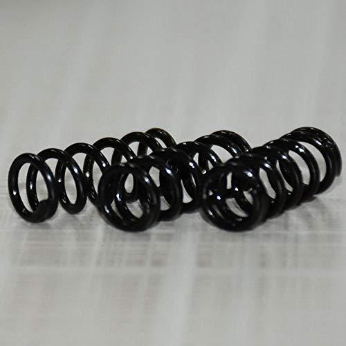 NO LOGO L-Yune, 10PCS hohe elastische Schwärzung Frühling Manganstahl Druckfederstahldraht-Durchmesser 1,2 mm Außen-Ø 15mm Länge 10-50mm (Größe : 1.2x15x35mm)