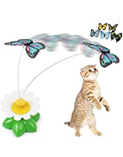 Cat Toys Electric Rotating Colorful Butterfly Funny Pet ScratchToy For Cats 8 x 5.5cm