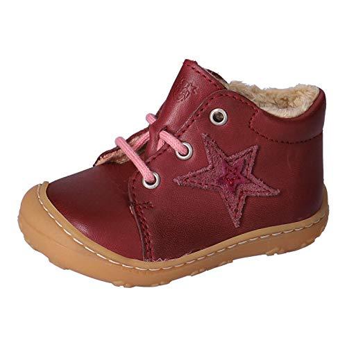 RICOSTA Kinder Lauflern Schuhe ROMMI von Pepino, Weite: Mittel (WMS), schnürstiefelchen Kinder Kids Maedchen Kinderschuhe,Fuchsia,21 EU / 5 Child UK