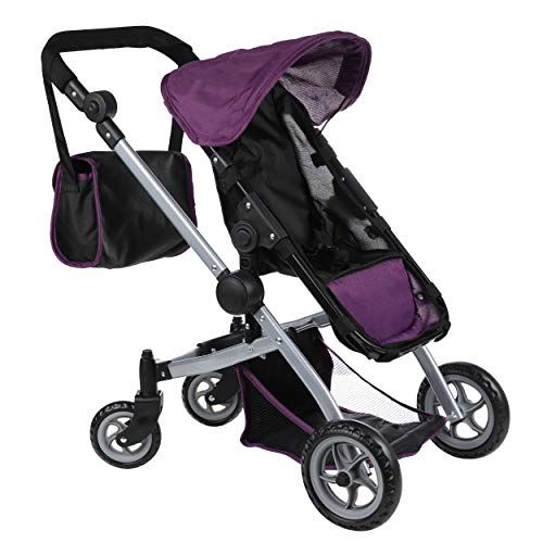 Mommy & Me Deluxe Babyboo Doll Stroller with Swiveling Wheels with Free Carriage...