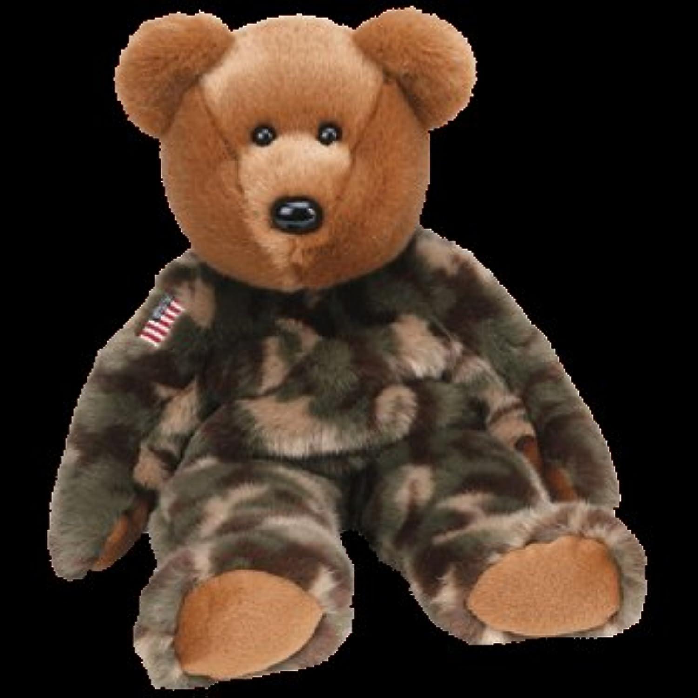 TY Beanie Buddy  HERO the Bear (w  USA Flag) by Beanie Buddies