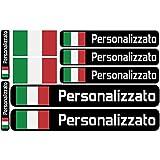 Haberdashery Online Bandiera Adesivi con Nome Personalizzato per Biciclette, Moto, Auto e Scooter elettrici. 9 Etichette Adesivi con Bandiere Personalizzati. Stickers Impermeabili per Auto.