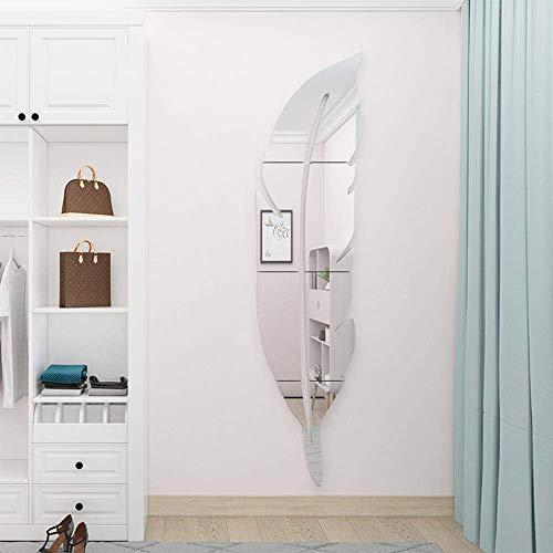CUGBOウォールステッカーアクリルミラーシール壁掛けウォールシールウォールミラーステッカー壁飾りDIY3D立体貼る鏡インテリア部屋飾り居間羽の形
