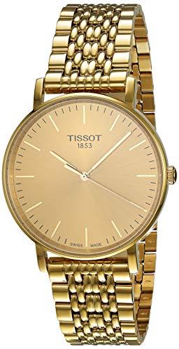 Tissot Herren Analog Quarz Everytime Medium Armbanduhr mit Edelstahl Armband T1094103302100