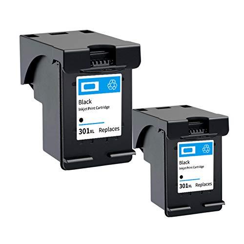 Reemplazo de cartuchos de tinta remanufacturados adecuados para HP301XL, para HP D1000 1050 1051 1050 1055 1056 2050 2000 2510 2512 3510 impresora 2*black