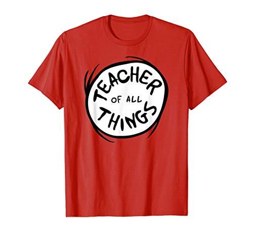 Dr. Seuss Teacher of all Things Emblem RED T-shirt T-Shirt