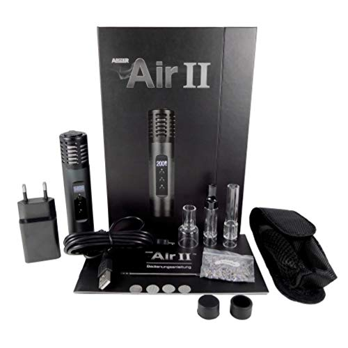 ArizerTech Air 2 Vaporizer Carbon Black, does not contain Nicotine,