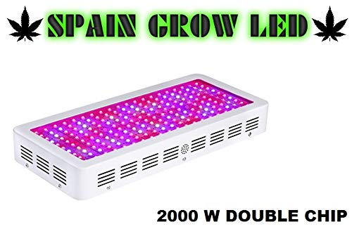 Lampara Led Cultivo SPAIN GROW LED 2000W,Lampara Led Grow Light para Plantas de Interior Iluminación Cultivo Plantas Crecimiento y Floracion (2000)
