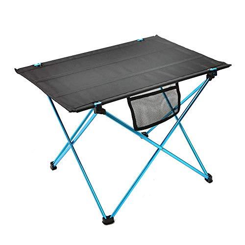 DX Table Pliante, Table de Camping, Table de Pique-Nique de Camping en Plein air Pliable en Aluminium Ultra-léger carré de Rangement Facile avec Petit Sac de Rangement