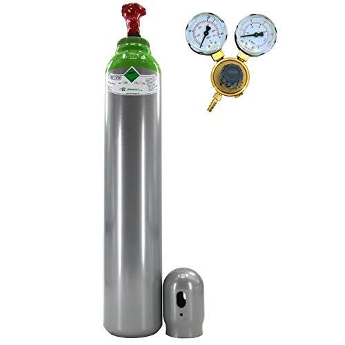 Botella de gas con reductor MIX Argón (82%) + CO2 8 litros de gas de soldadura MIG/MAG TIG WIG