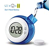 Eco Friendly Gifts Water Powered Clocks Kids Desk Clock Bedside Night Time Clock Non Ticking for Home Office School Bedroom Gift Décor