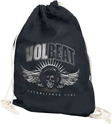 Volbeat Dark Skullwing Unisex Turnbeutel schwarz 100% Baumwolle Band-Merch, Bands, Totenköpfe