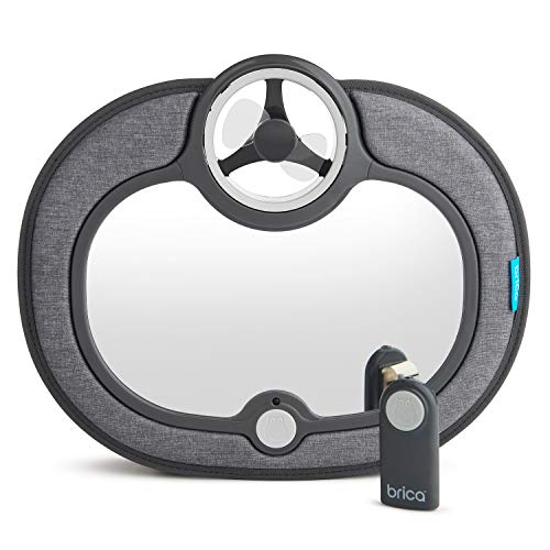 Brica Breeze Baby in-Sight Fan Car Mirror, Grey