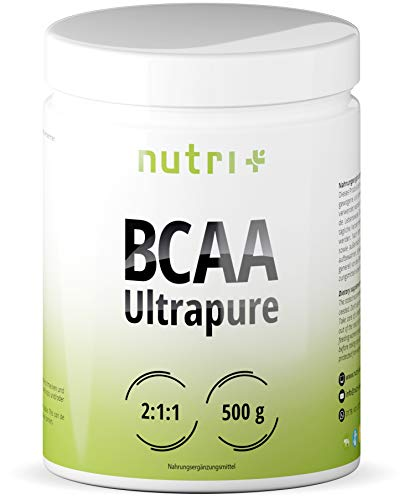 BCAA PULVER 2:1:1 500g Neutral - HÖCHSTDOSIERTE BCAAS - Ultrapure Natural Flavour - 100% essentielle Aminosäuren - vegan powder unflavoured - ohne Süßstoff und Zusatzstoffe