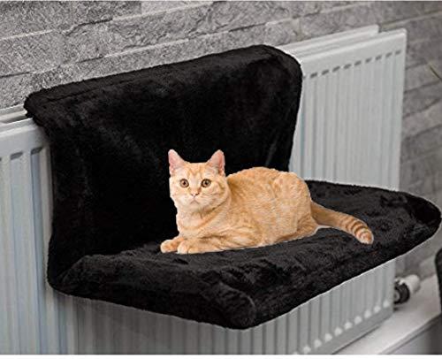 ADEPTNA Heizkörper-Hängematte für Katzen, Kätzchen, Haustiere, warmer Fleece-Korb, robuster und langlebiger Metallrahmen