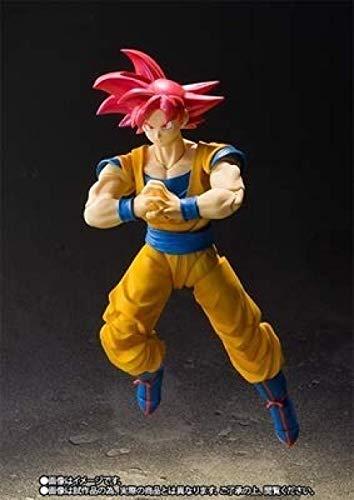 Hyzb 16cm Figura de acción de Anime Dragon Ball Goku Super Saiyan God Movable Joint PVC Colección Modelo Muñeca de Juguete para niños-con Caja al por Menor