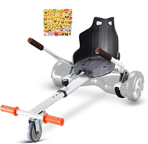 LOVESPORT Hoverboards Silla Hoverboard Asiento Kart Electrico Patinete electrico con Asiento hoverkart (Blanco)