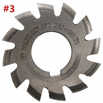 RanDal Modul 1.75 Pa20 Hss # 1-8 Involute Zahnradfräser in Bohrung 22 mm - # 3