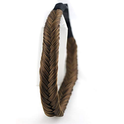 Beira Braids Women's Synthetic Hair Plaited Headband Fishtail Braid Natural Looking Elastic Hair Piece Extension Wedding accessories for women 2-12