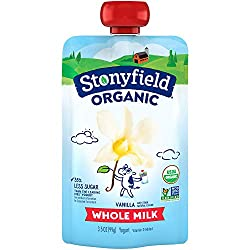 Stonyfield Organic Whole Milk Vanilla Yogurt 3.5 oz. Pouch