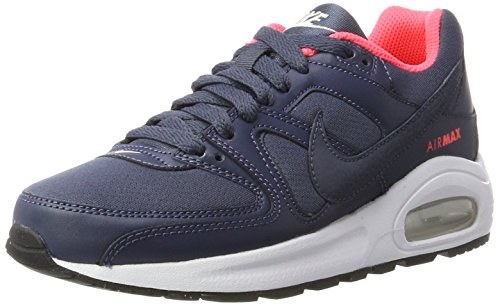 Nike Air Max Command Flex GS, Scarpe da Ginnastica Bambina, Multicolore (Thunder Blue/White/Black/Hot Punch), 38.5 EU