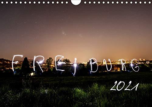 Freiburg bei Nacht (Wandkalender 2021 DIN A4 quer)