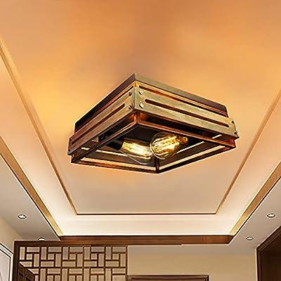 Rustic Flush Mount Ceiling Light Fixture Vintag...
