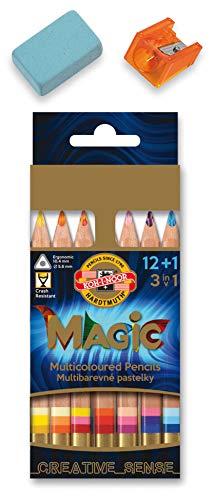 KOH-I-NOOR MAGIC Jumbo Triangular Coloured Pencil (Pack of 12 + 1)