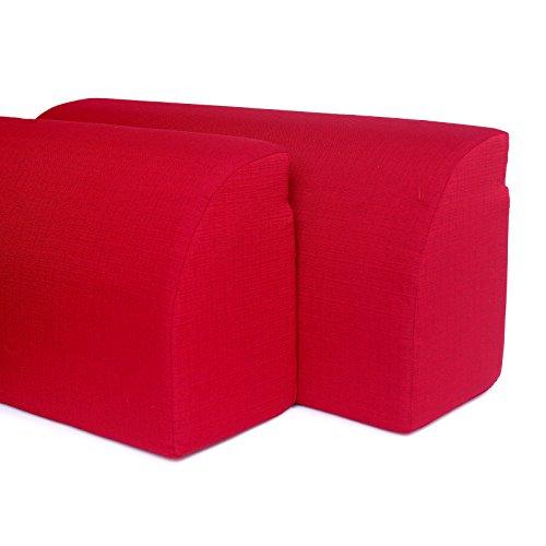 RESINGOMM Spalliera per Letto a Ponte, trasforma Il Letto in Un Divano. Due spalliere + Coperta in Omaggio Prodotto, Made in Italy. Colore Rosso Bordeaux