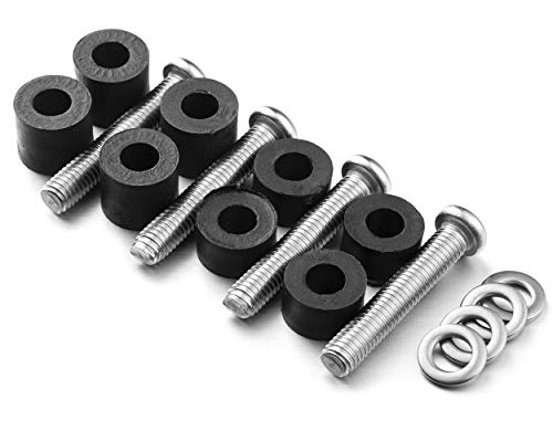 Wall Mounting Screws Bolts for Samsung TV - M8 x 45mm with 25mm Long Spacers, Solid Screw Bolts Hardware for Mounting Samsung TV, TV Mounting Bolts Work with Samsung 50  55  60  65  70  75  82  TV