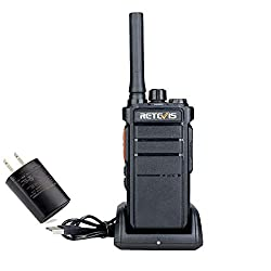2 Pack Retevis RB26 GMRS Two Way Radio High Power 2 Way Radio Rugged Security Commercial VOX Type-C Charger 30 Channel Long Range Walkie Talkie for Adults