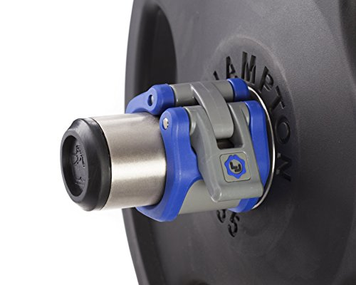 """Lock-Jaw HEX 50mm / 2"""" Olympic Barbell Collar (Blue)"""