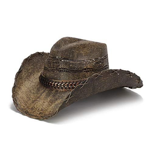 Stampede Hats Men's Grade Up Chain Cowboy Hat M Brown