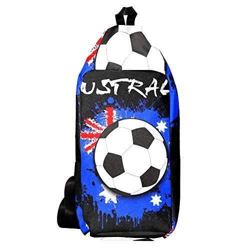 EZIOLY Schulter-Rucksack mit Australien-Flagge, für Reisen, Wandern, Tagesrucksack