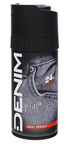 3x Denim Black Deo Perfume Body Spray/ Deospray/ Deodorant/ für Männer/ je 150ml