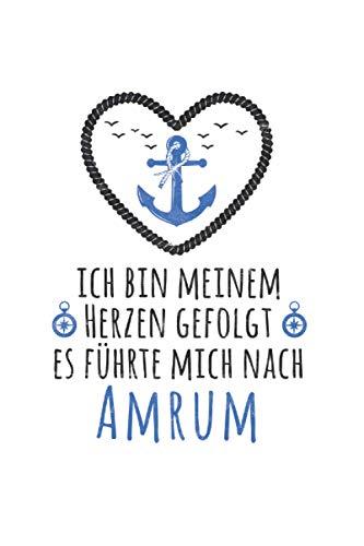 Ich bin meinem Herzen gefolgt - Amrum: Norddeutschland NOTIZBUCH | Format 6x9