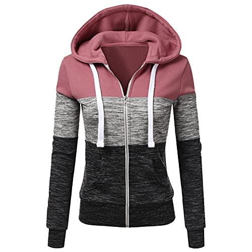 YAOBF Damen Skeleton Zip Up Hoodie Strass Übergroße Hoodies Ästhetische Pullover Sweatshirts Biene Maja Langarmshirt (Rosa 10,XL)