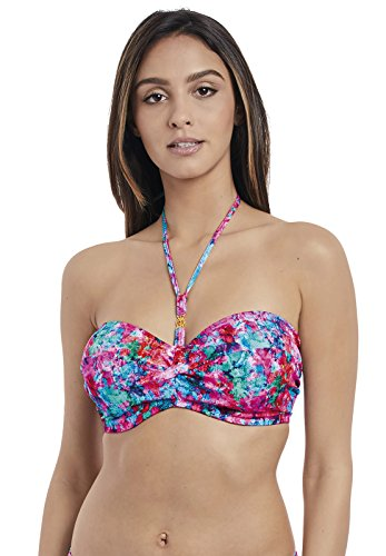 Freya Mamba Twist Bandeau Bikini Top, 30B, Multi