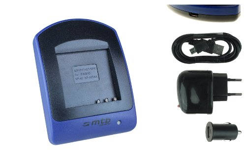 Cargador (USB/Coche/Corriente) para NP-40, LB-060 // Kodak, Pentax, Medion, Rollei, Silvercrest. Ver Lista!