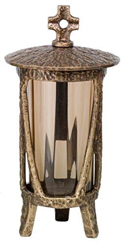 Grablaterne, Grablicht, Grablampe, Grableuchte Lena (Bronze pat.)