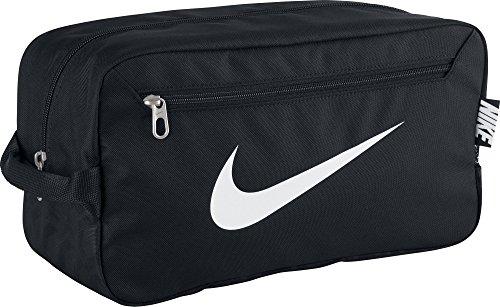 NIKE Herren Sporttasche Brasilia 6 Shoe Bag, Black/White, 34 x 18 x 15 cm, 9 Liter